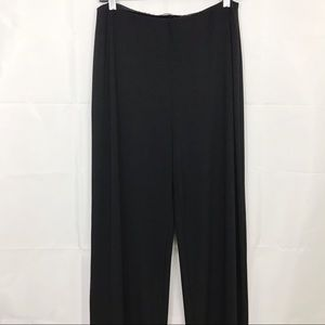 Sympli Palazzo Pants Pull On Stretch High Waist